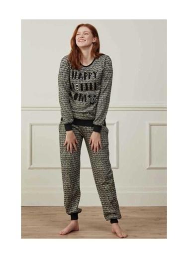 Feyza Pijama Takım Siyah